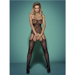 Bodystocking F218 czarne XL/XXL