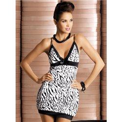 Zebra koszulka i stringi L/XL