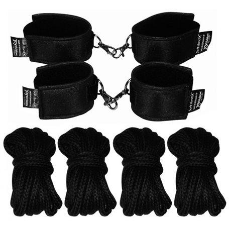 Soft-Bond-X-Fessel-Set 8 (cuff-set black)