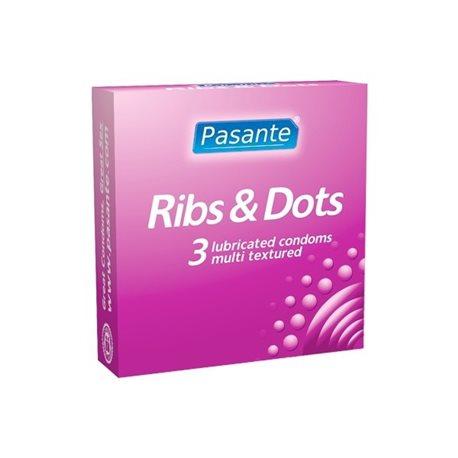 Pasante Ribs & Dots - 3 szt.