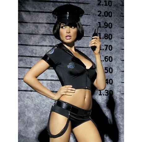 Police set kostium 5-częściowy S/M