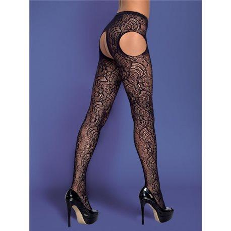 Garter stockings S208 czarne S/M/L