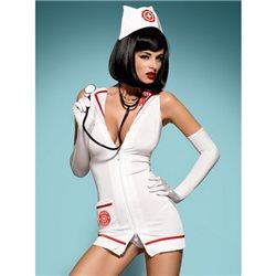Obsessive Emergency dress + stetoskop L/XL