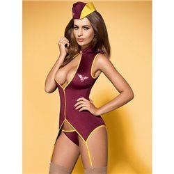 Obsessive Stewardess suit kostium 3-częściowy L/XL